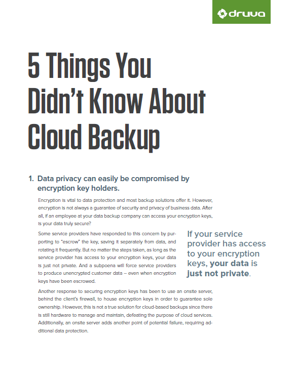 5 Things You Didn't Know About Cloud Backup