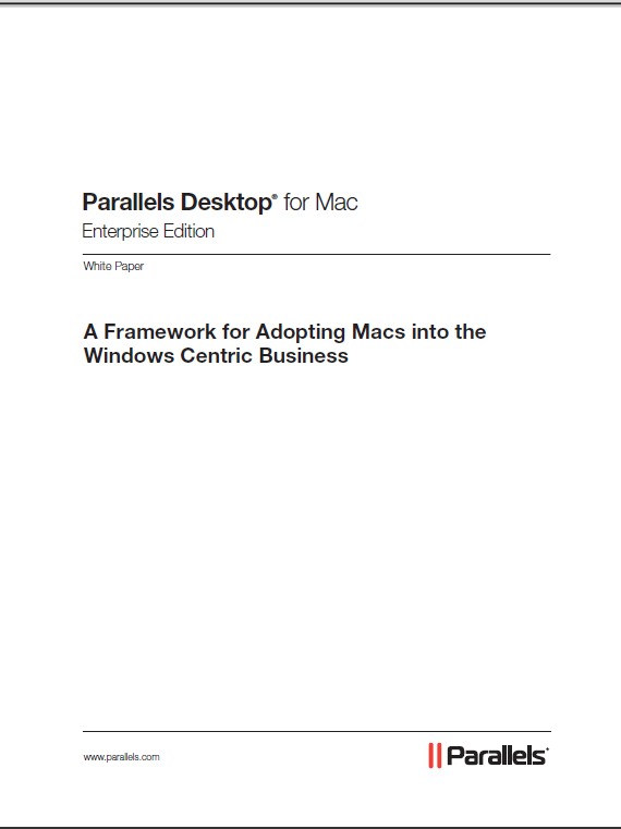 A Framework for Adopting Macs into the Windows Centric Business