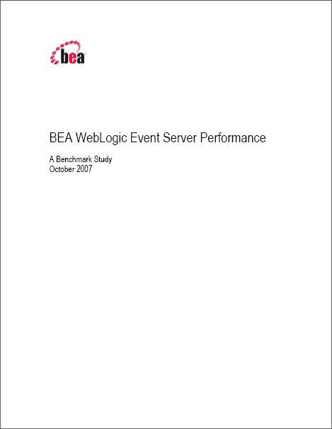 BEA WebLogic Event Server Performance