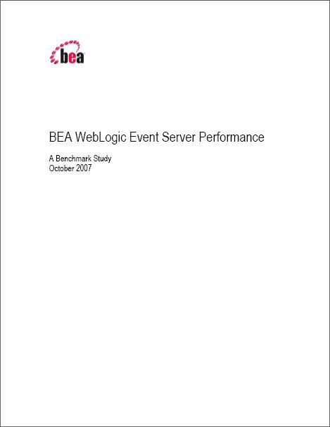 BEA WebLogic Event Server Performance