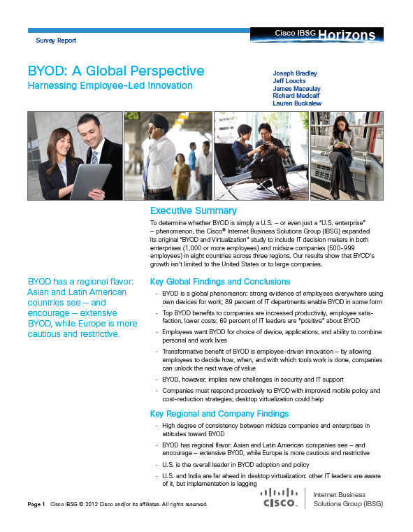 BYOD: A Global Perspective – Harnessing Employee Led Innovation
