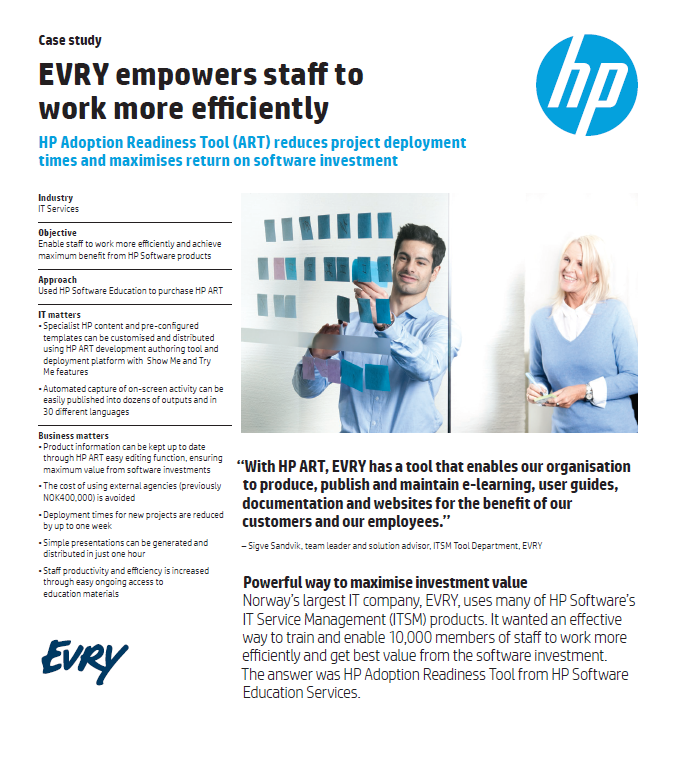 Case study: EVRY empowers staff to work more efficiently