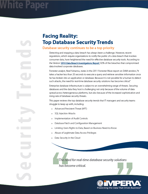 Facing Reality: Top Database Security Trends