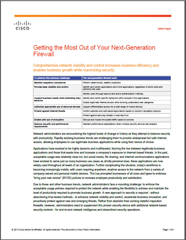 Getting the Most Out of Your Next-Generation Firewall