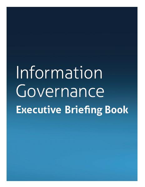 Information Governance Executive brief ebook
