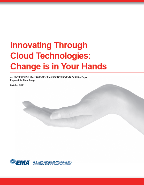 Innovating Through Cloud Technologies: Change is in Your Hands