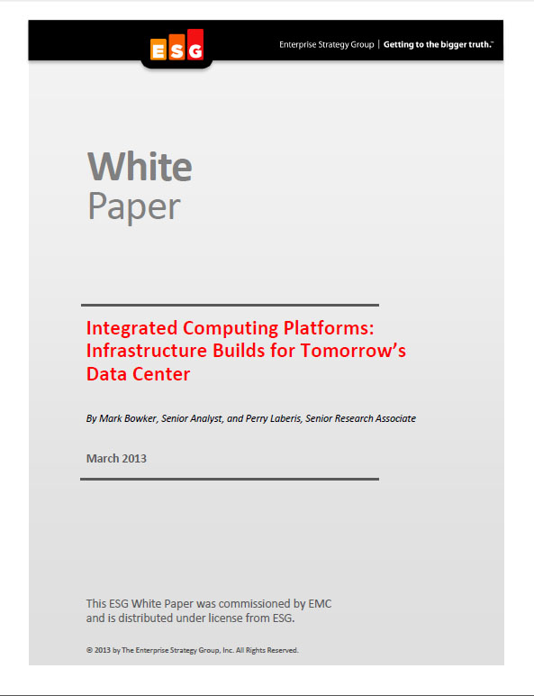 Integrated Computing Platforms: Infrastructure Builds for Tomorrow's Data Center
