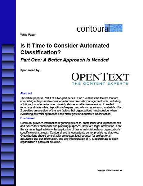 Is it Time to Consider Automated Classification?