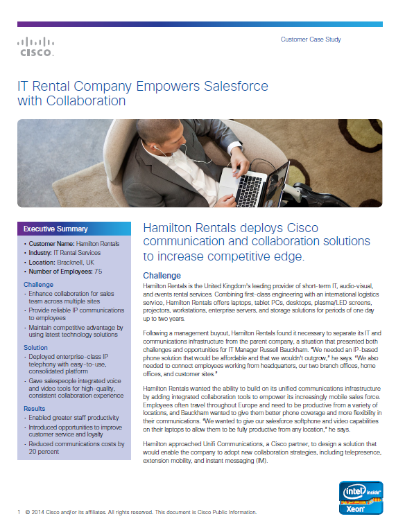 IT Rental Company Empowers Salesforce with Collaboration