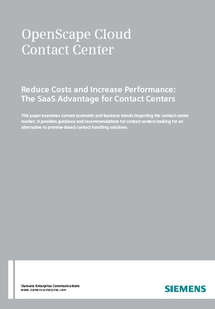 Reduce Costs and Increase Performance: The SaaS Advantage for Contact Centers