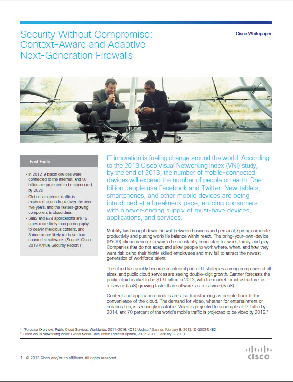 Security Without Compromise: Context-Aware and Adaptive Next-Generation Firewalls