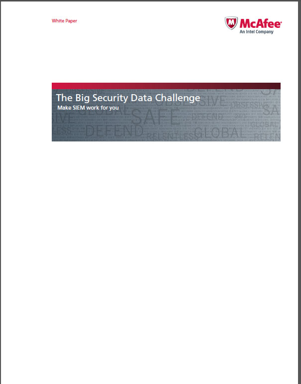 The Big Security Data Challenge – Make SIEM work for you