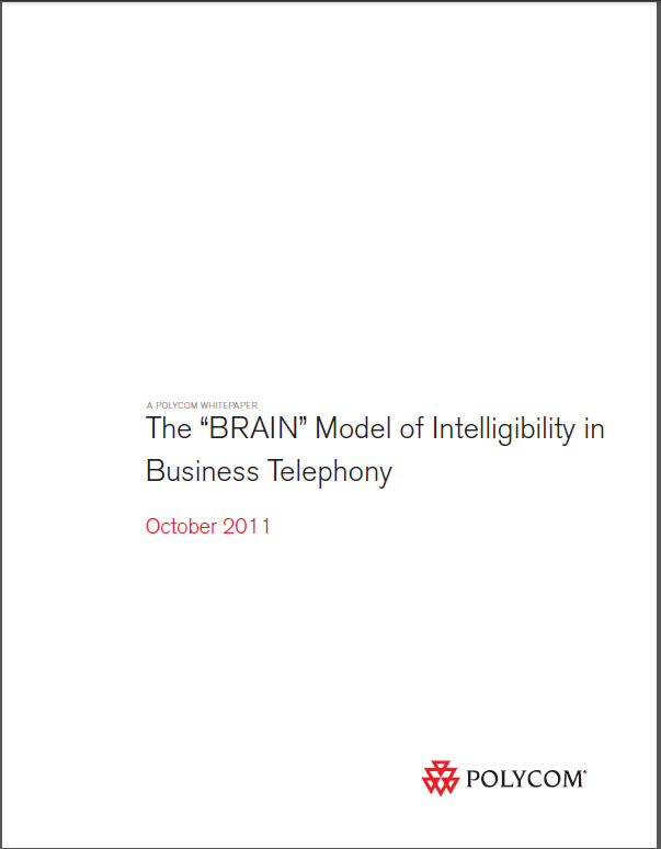"The ""BRAIN"" Model of Intelligibility in Business Telephony"
