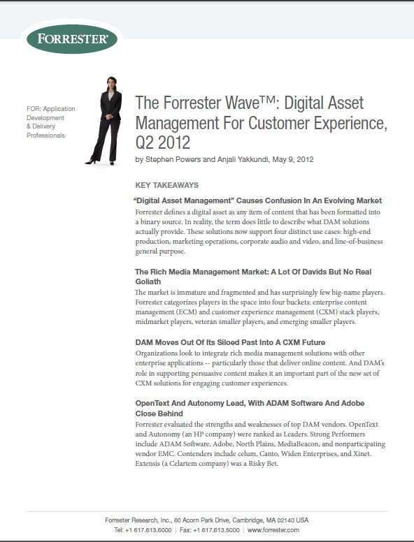 The Forrester Wave™: Digital Asset Management For Customer Experience, Q2 2012