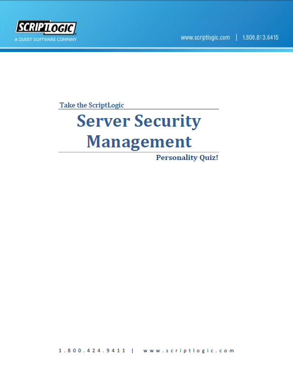 The Server Security Management Personality Quiz