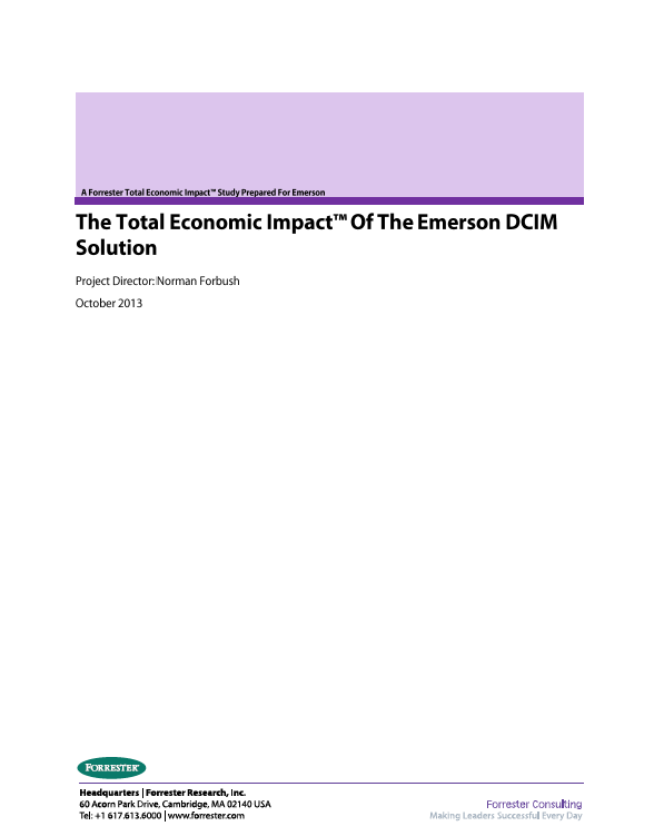 The Total Economic Impact of the Emerson DCIM Solution
