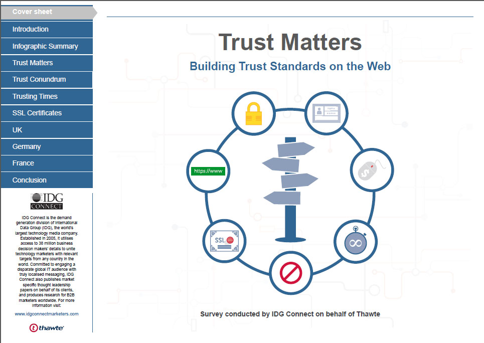 Trust Matters Building Trust Standards on the Web