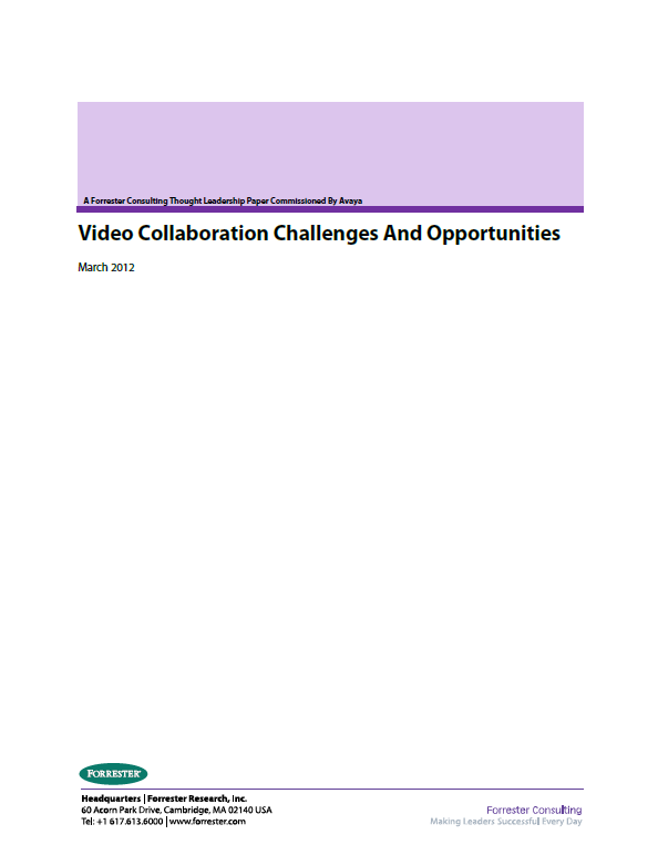 Video Collaboration Challenges And Opportunities