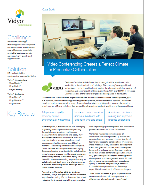 Video Conferencing Creates a Perfect Climate for Productive Collaboration