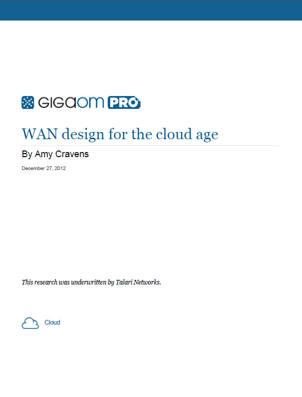 WAN design for the cloud age