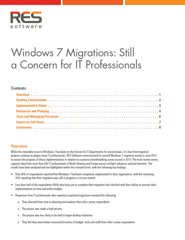 Windows 7 Migrations: Still a Concern for IT Professionals
