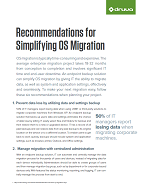Recommendations for Simplifying OS Migration