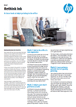 Rethink ink: A closer look at inkjet printing in the office