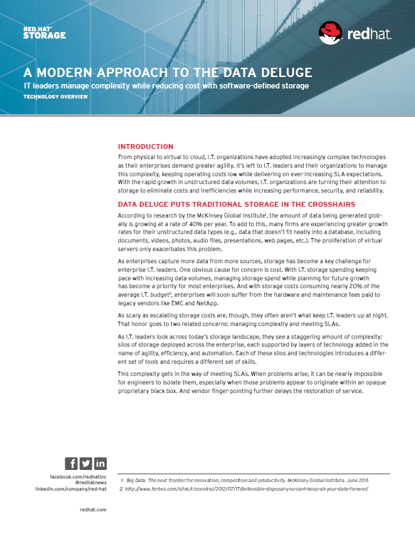 A Modern Approach to the Data Deluge