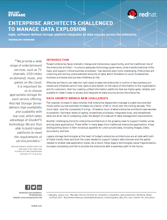 Enterprise Architects Challenged to Manage Data Explosion