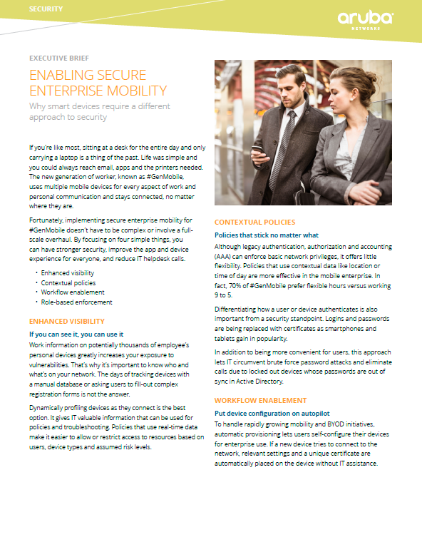 Enabling Secure Enterprise Mobility