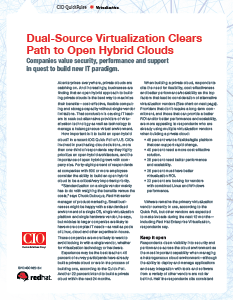 Dual-Source Virtualization Clears Path to Open Hybrid Clouds