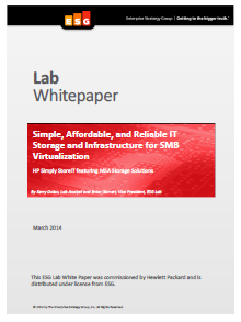 Simple, Affordable, and Reliable IT Storage and Infrastructure for SMB Virtualization