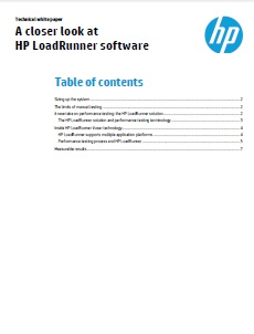 A Closer Look at HP LoadRunner Software