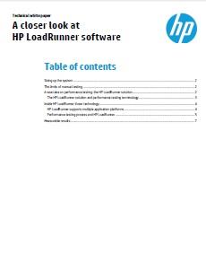 A Closer Look at HP LoadRunner Software