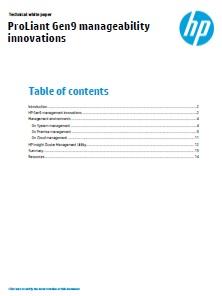 ProLiant Gen9 manageability innovations