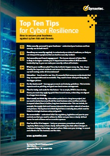 Top Ten Tips for Cyber Resilience