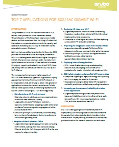 Top 7 Applications for 802.11AC Gigabit Wifi