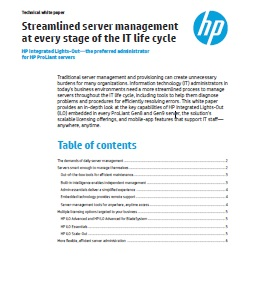 Streamlined server management at every stage of the IT life cycle