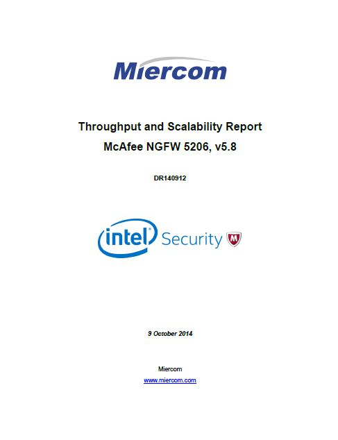 Throughput and Scalability Report