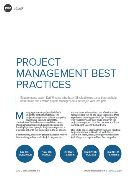 Project Management Best Practices (21 tips)