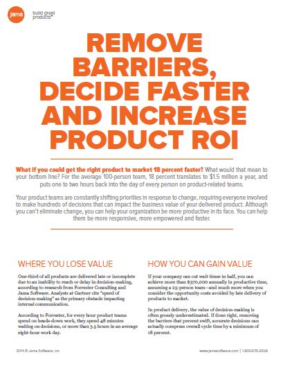 Increase Product ROI With Better Decision Making
