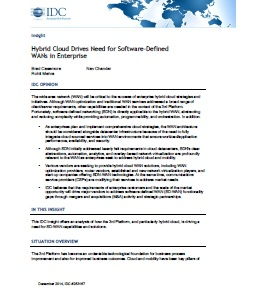 Hybrid Cloud Drives Need for Software-Defined WANs in Enterprise