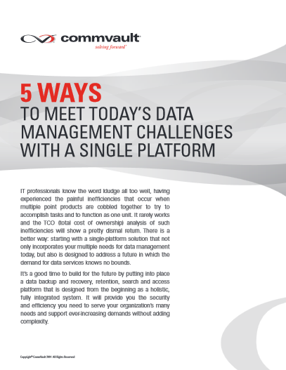 5 ways to meet today's data management challenges with a single platform