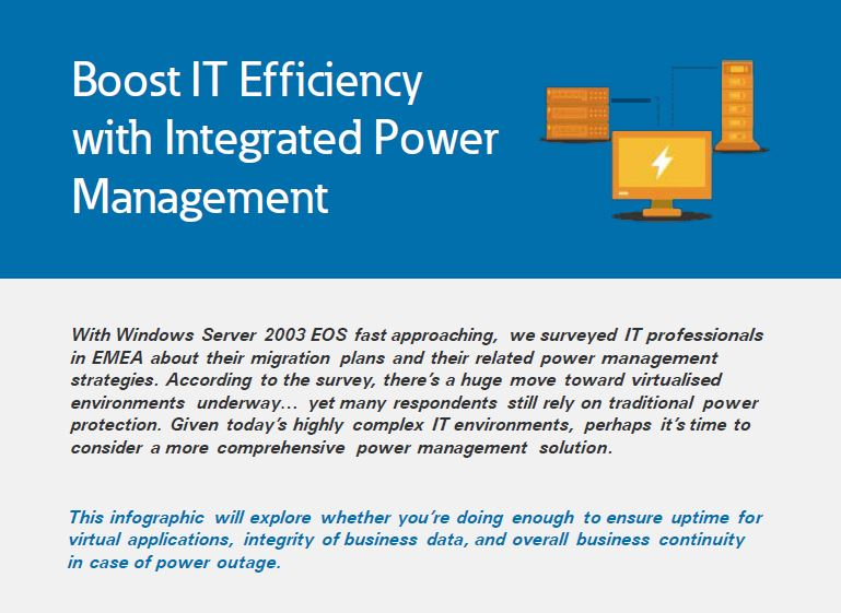 Boost IT Efficiency with Integrated Power Management