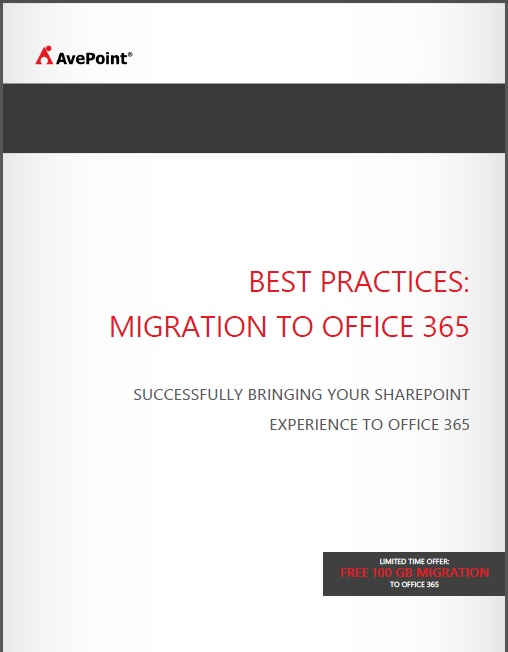 BEST PRACTICES: MIGRATION TO OFFICE 365