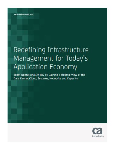 Redefining Infrastructure  Management for Today's Application Economy