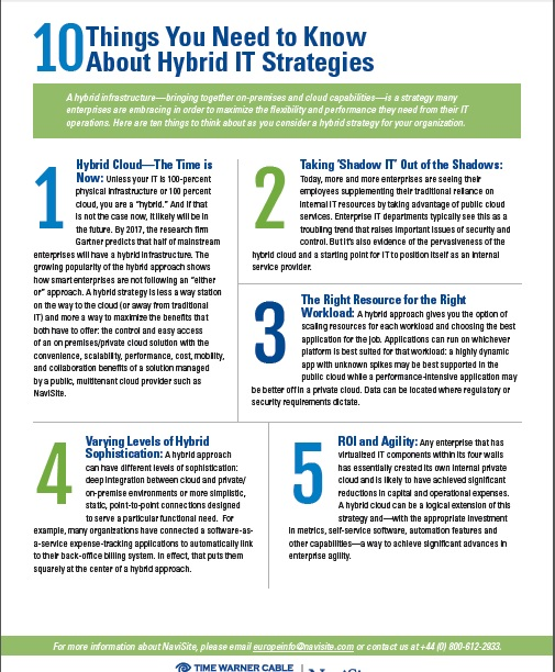 10 Things You Need to Know About Hybrid IT Strategies