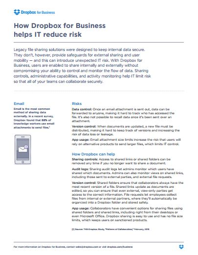 How Dropbox for Business helps IT reduce risk