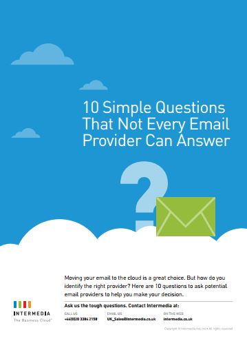 10 simple questions that not every email provider can answer