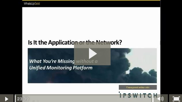 Is It The Application or the Network?